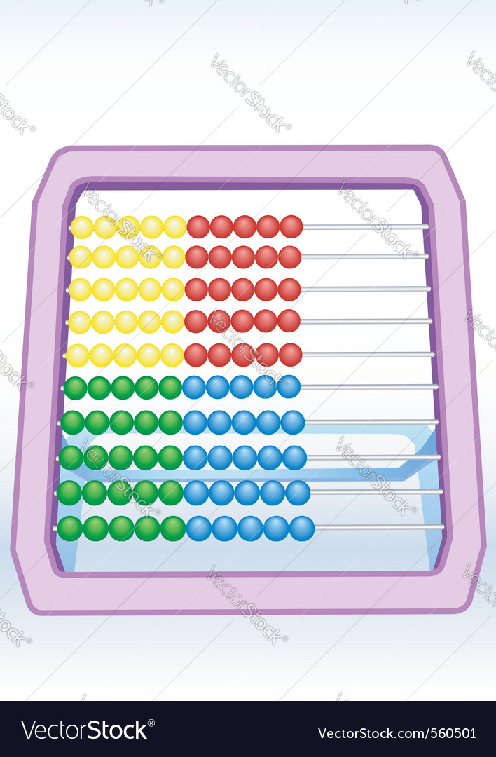 Children abacus vector | Price: 1 Credit (USD $1)