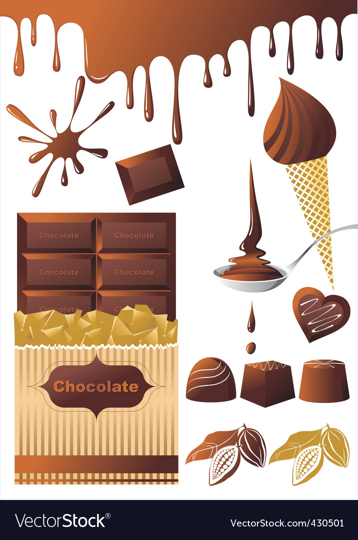 Chocolate set vector | Price: 1 Credit (USD $1)