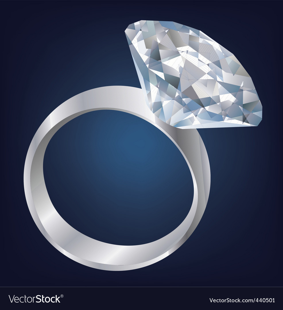 Diamond ring vector | Price: 1 Credit (USD $1)