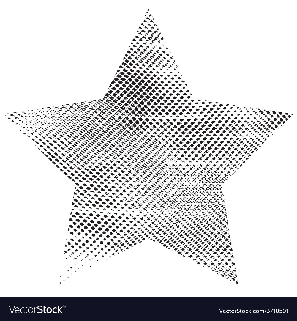 One grunge star vector | Price: 1 Credit (USD $1)