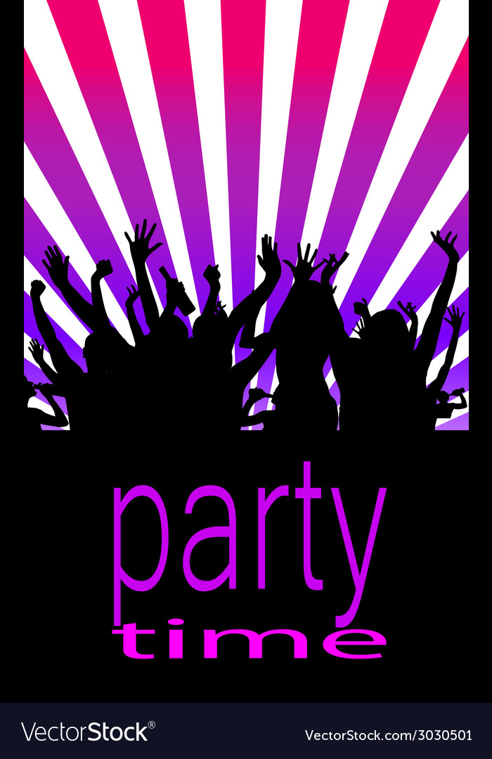 Party time with people vector | Price: 1 Credit (USD $1)