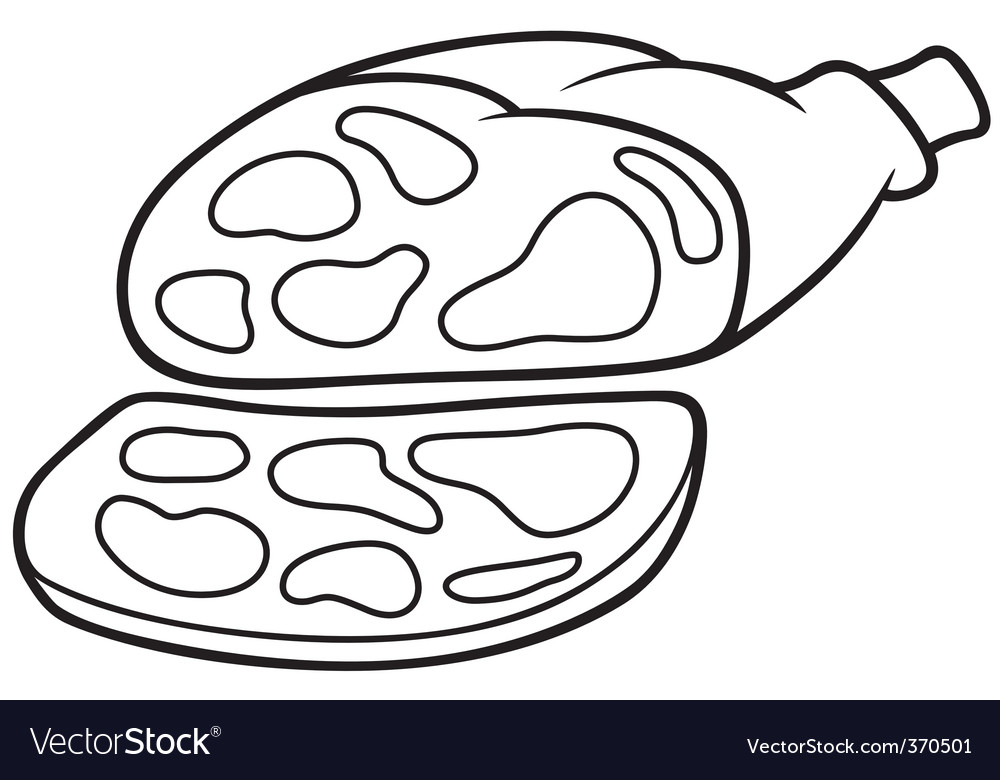 Pork ham vector | Price: 1 Credit (USD $1)