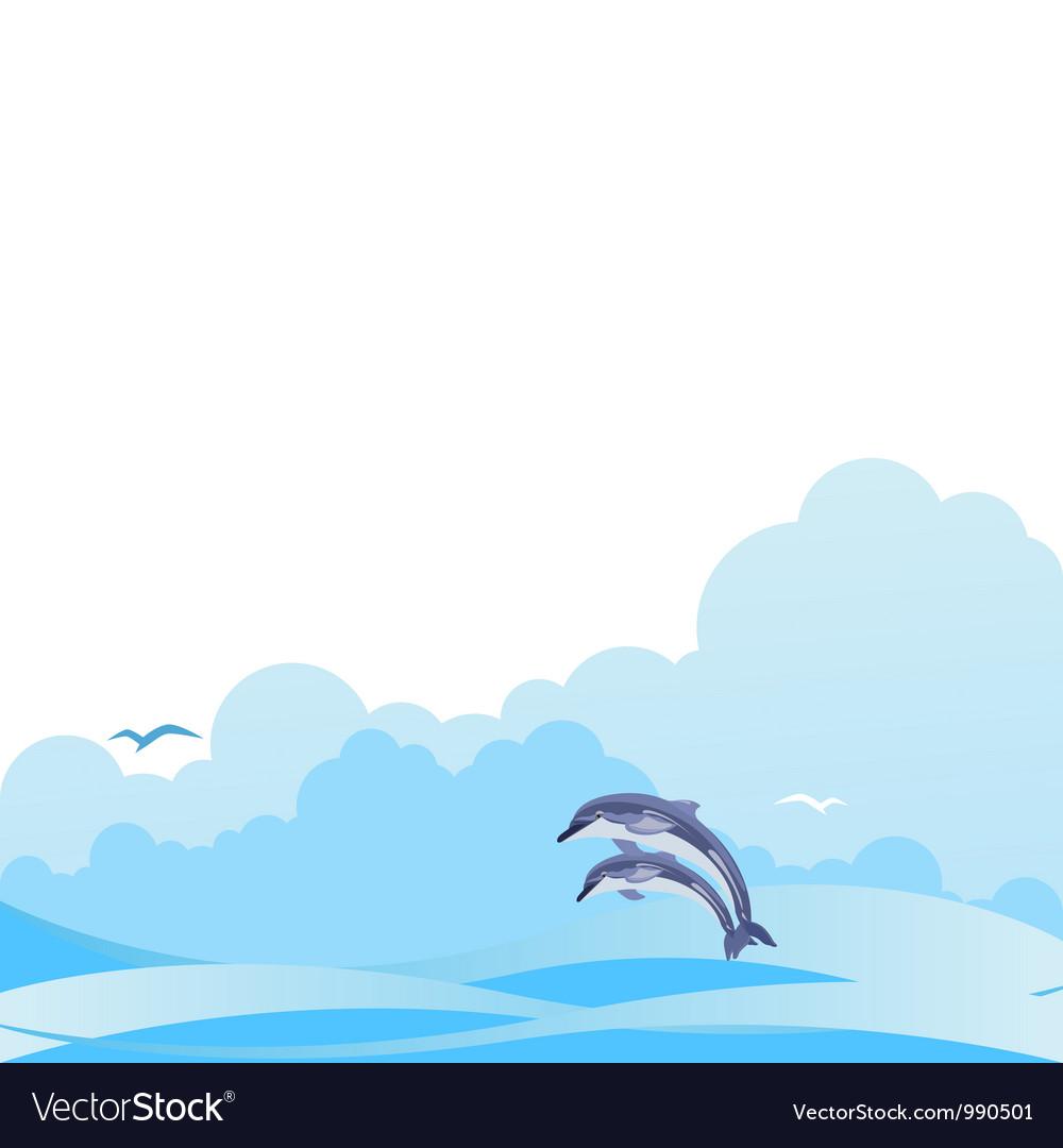 Seascape vector | Price: 1 Credit (USD $1)