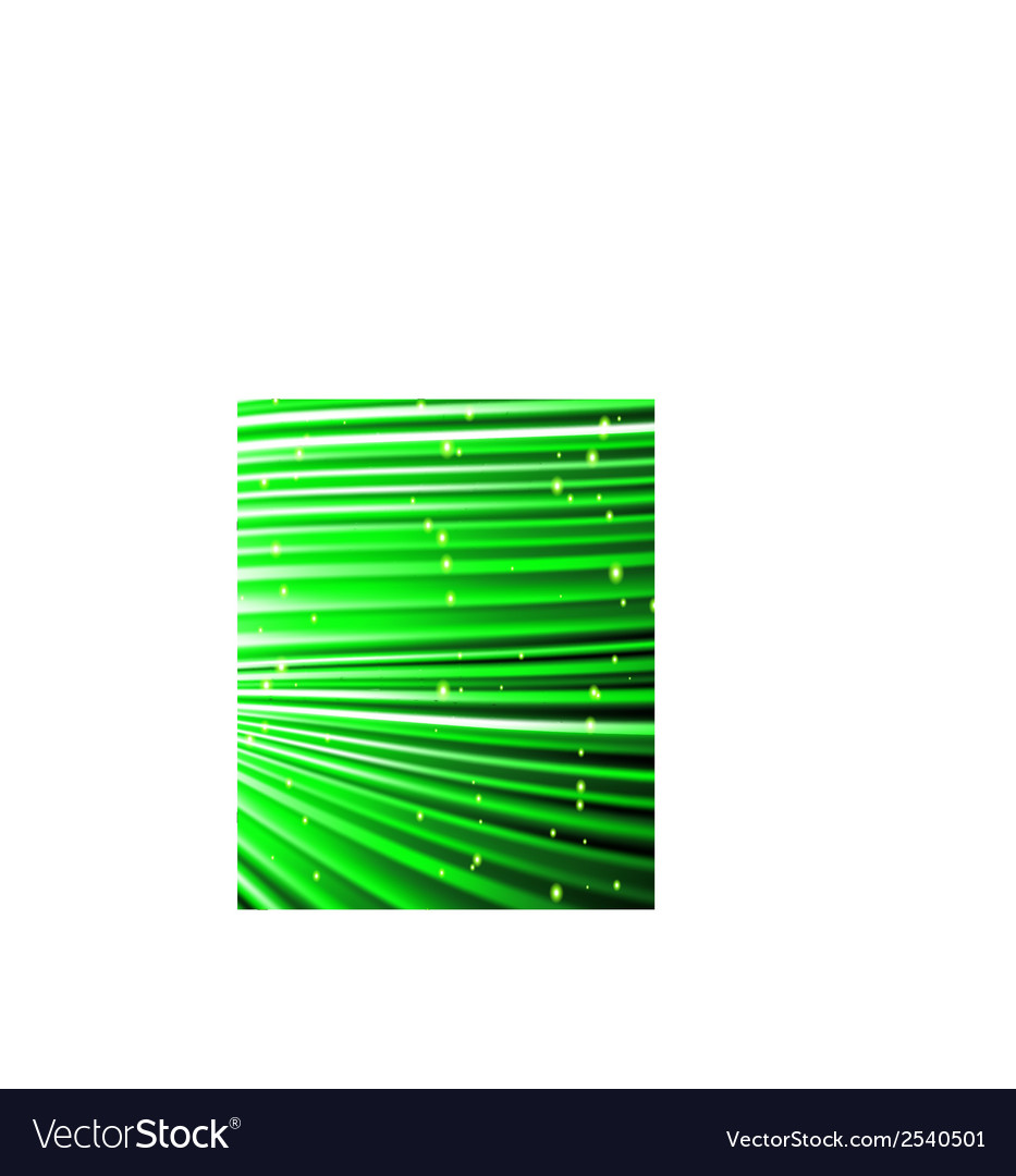 Stars are falling on the background of green rays vector   Price: 1 Credit (USD $1)