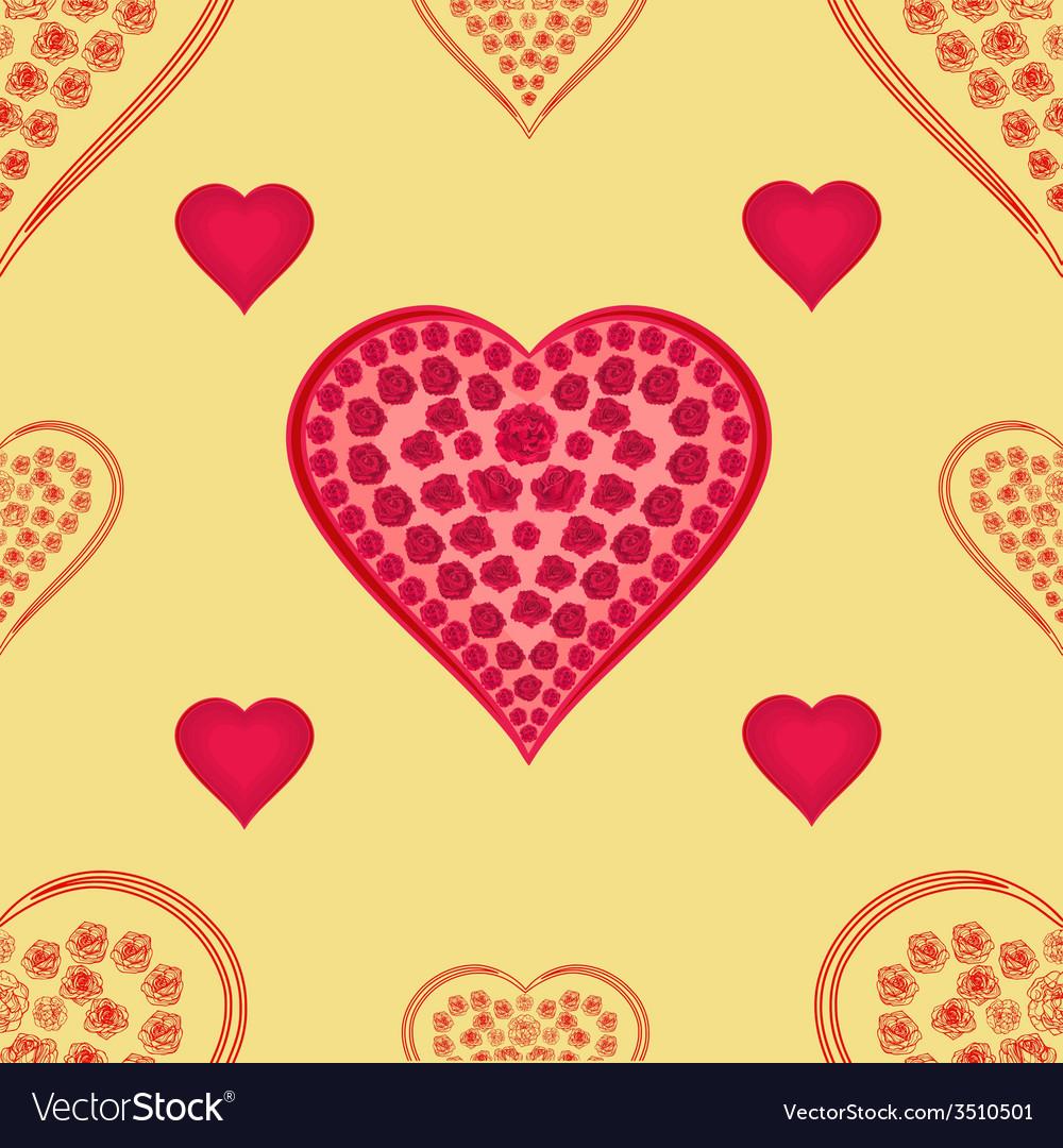 Valentines day valentine seamless texture hearts vector | Price: 1 Credit (USD $1)