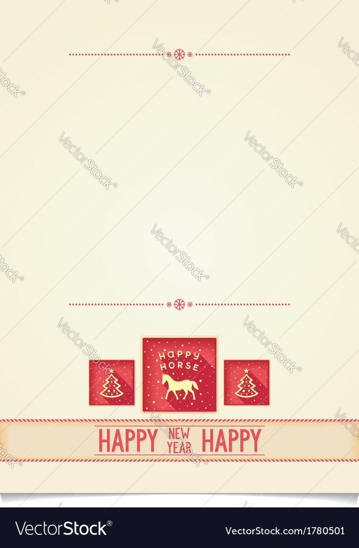 Vintage template for new year greetings vector | Price: 1 Credit (USD $1)
