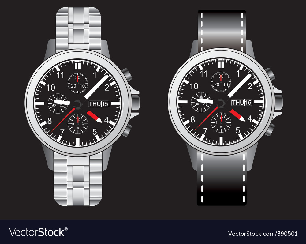 Wrist watches vector | Price: 1 Credit (USD $1)
