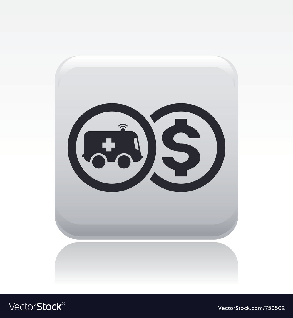 Ambulance price icon vector | Price: 1 Credit (USD $1)