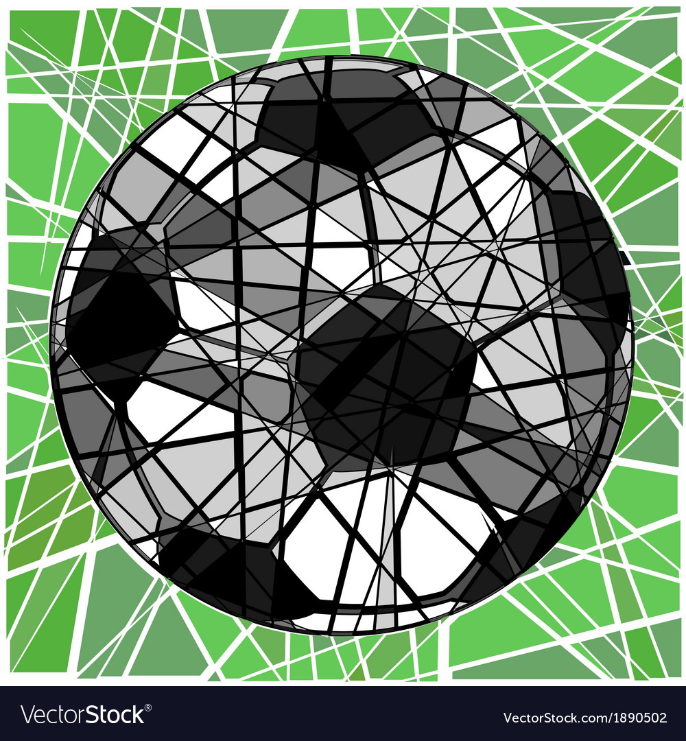 Cracking football vector | Price: 1 Credit (USD $1)