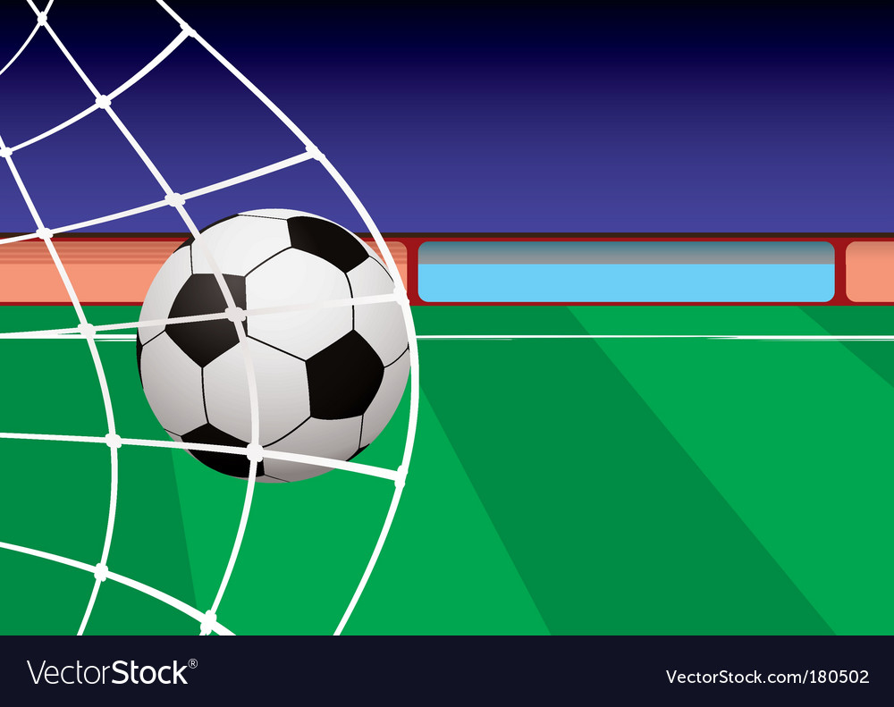 Football pitch goal vector | Price: 1 Credit (USD $1)