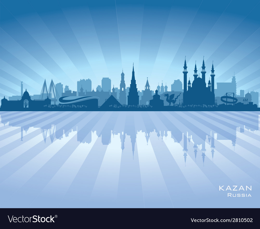 Kazan russia skyline city silhouette vector | Price: 1 Credit (USD $1)