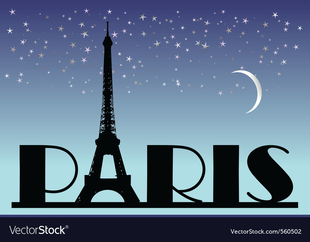 Paris typography vector | Price: 1 Credit (USD $1)