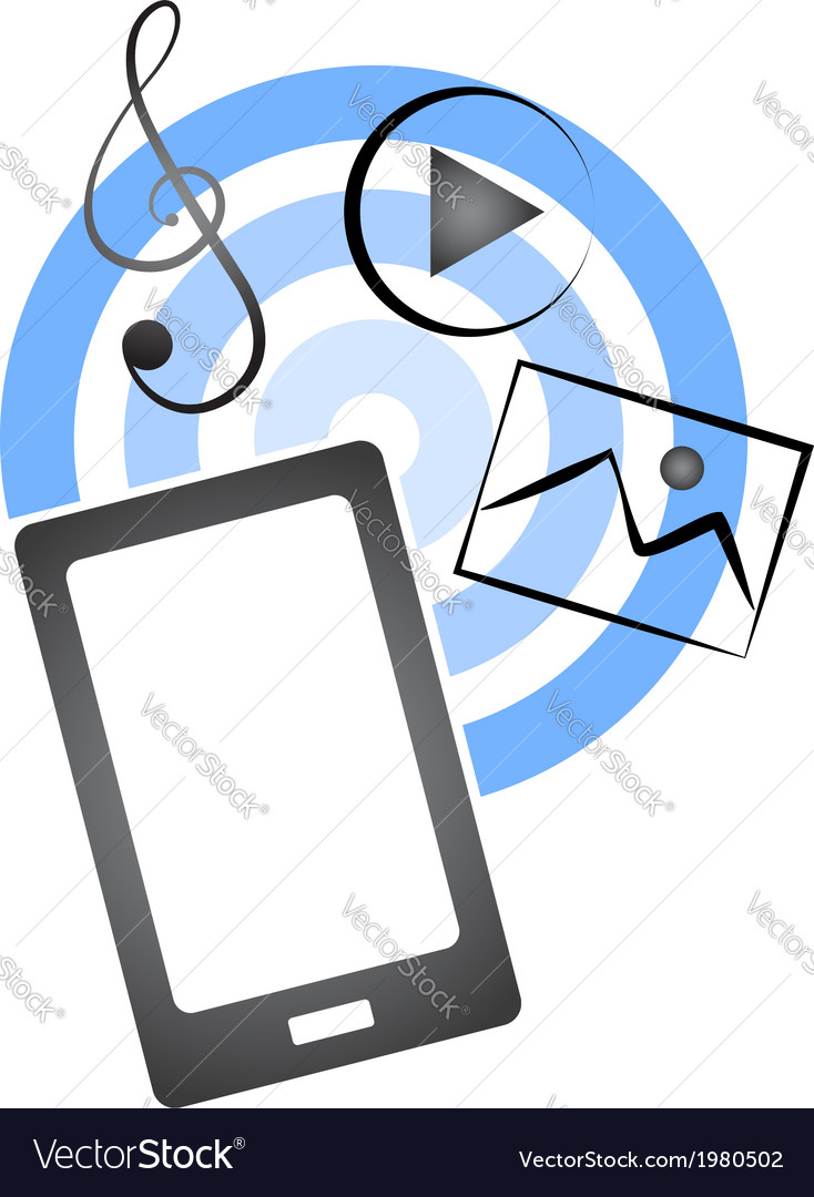 Receive files on mobile vector | Price: 1 Credit (USD $1)