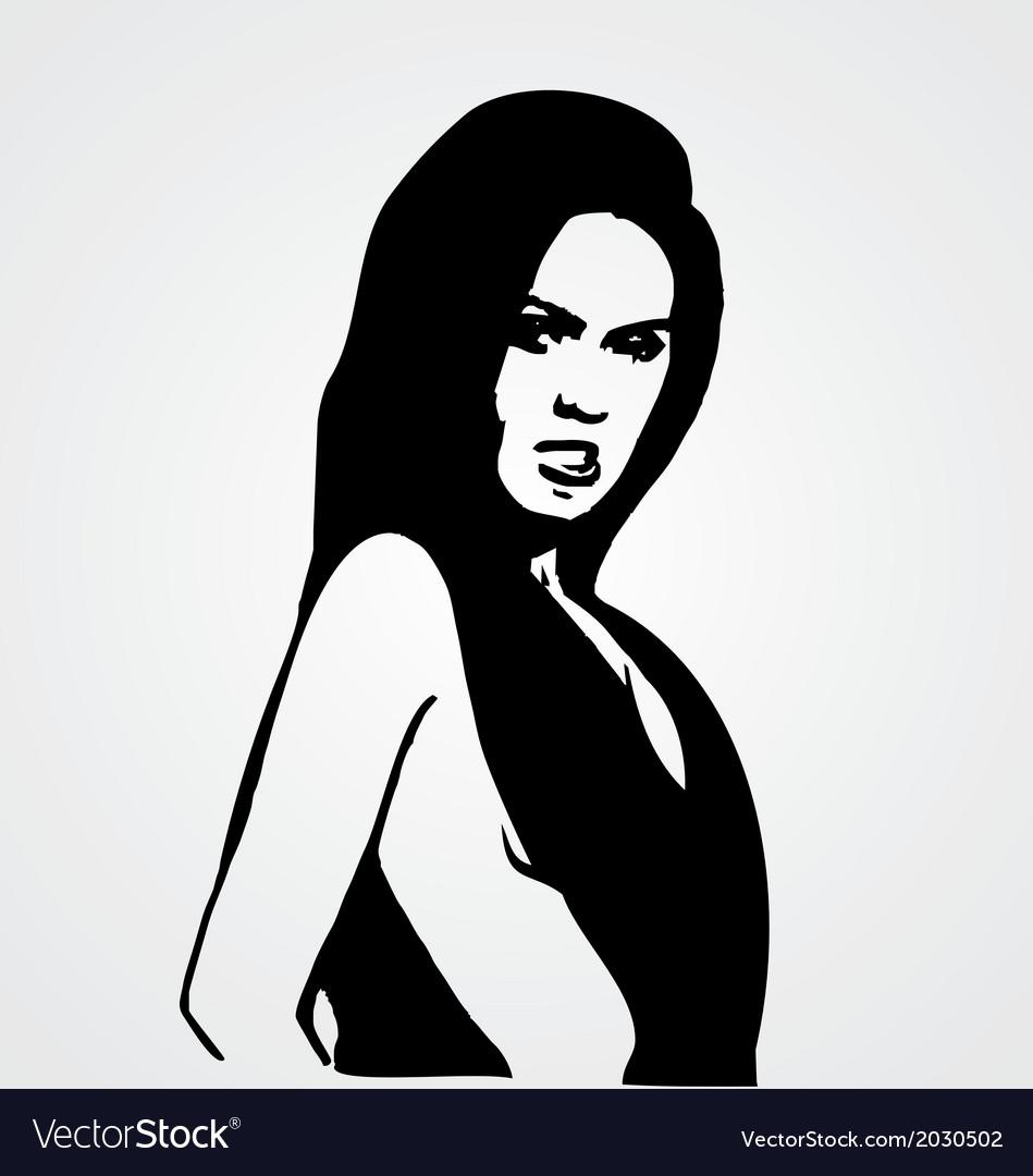Sexy girl stencil vector | Price: 1 Credit (USD $1)