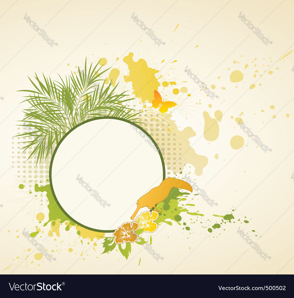 Summer tropical background vector | Price: 1 Credit (USD $1)