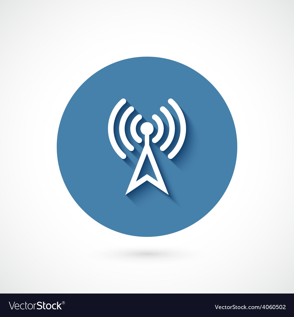 Wi-fi icon isolated vector | Price: 1 Credit (USD $1)