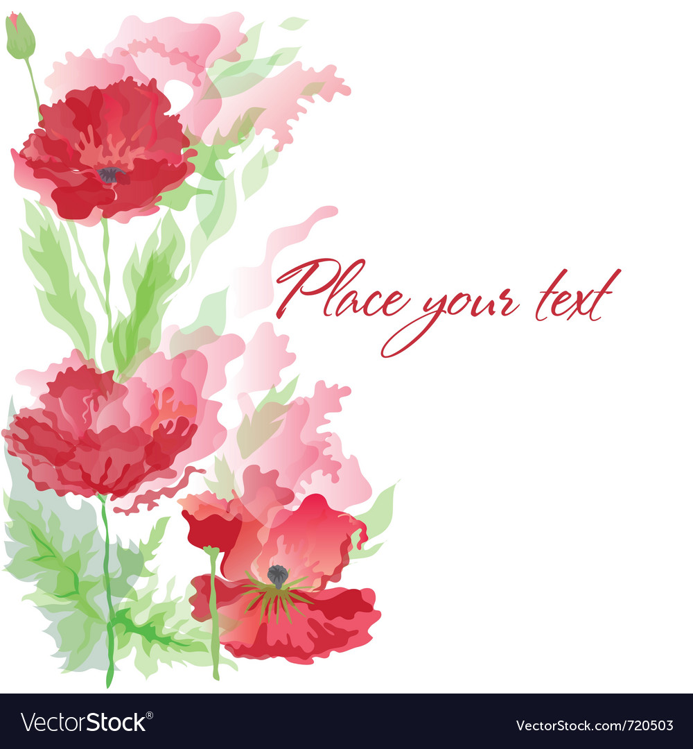 Background with poppies vector | Price: 1 Credit (USD $1)