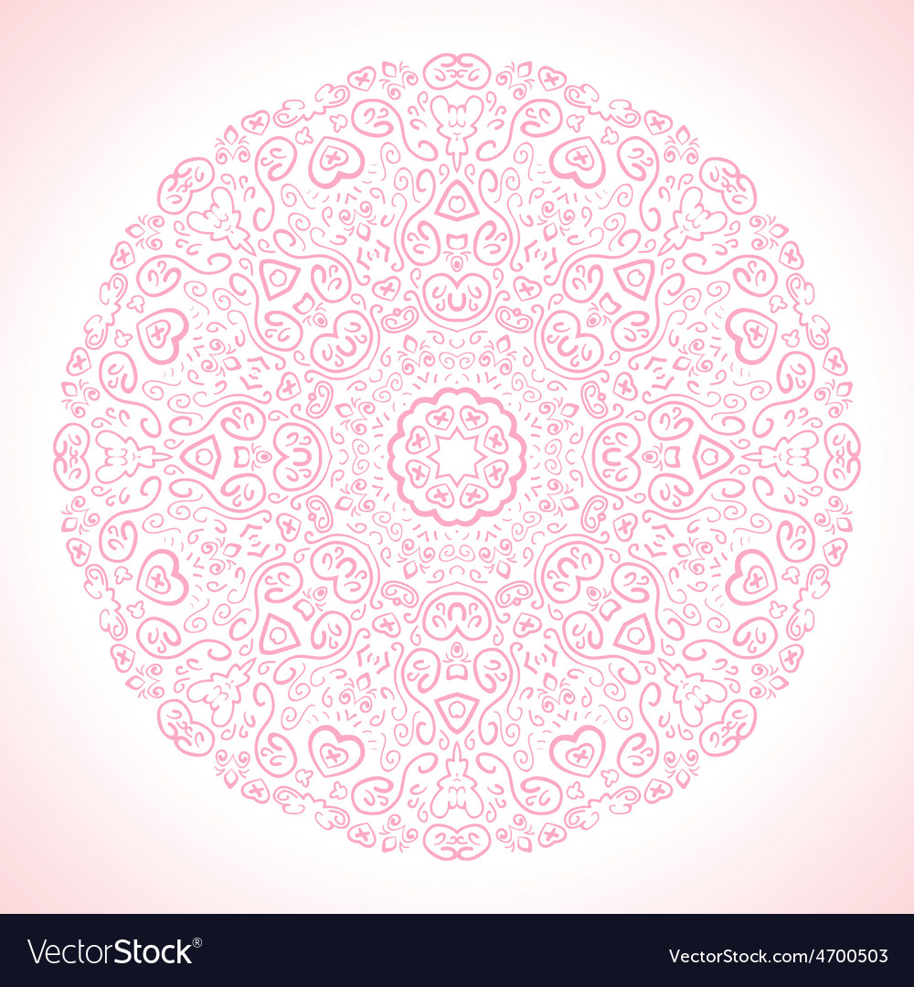 Beautiful pink ornamental background vector   Price: 1 Credit (USD $1)