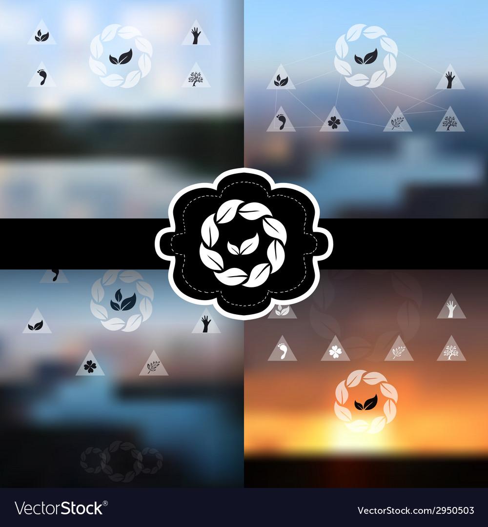 Blurred landscapes set vector | Price: 1 Credit (USD $1)