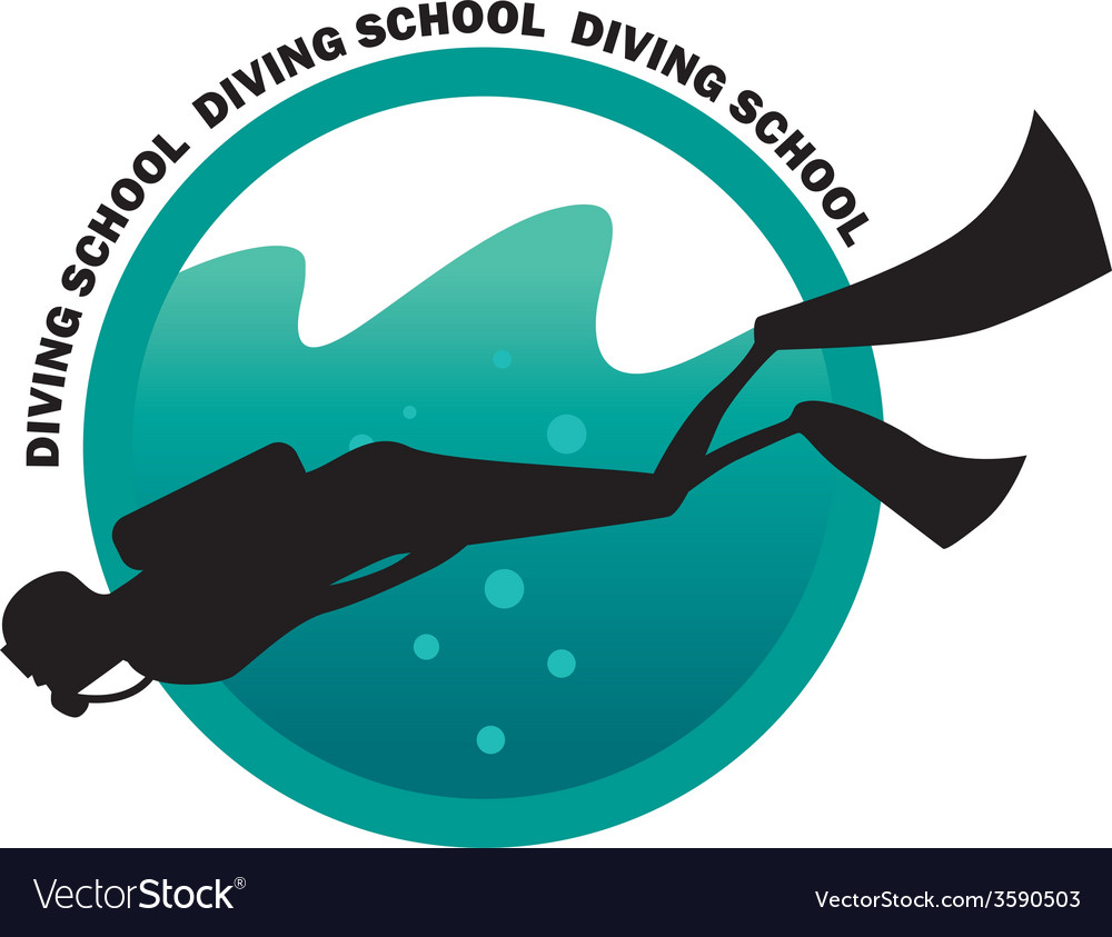 Diving school logo vector | Price: 1 Credit (USD $1)
