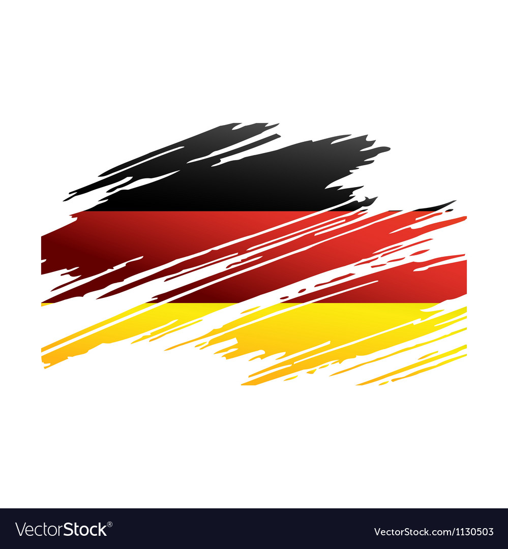 Flag germany in the form traces brush vector | Price: 1 Credit (USD $1)