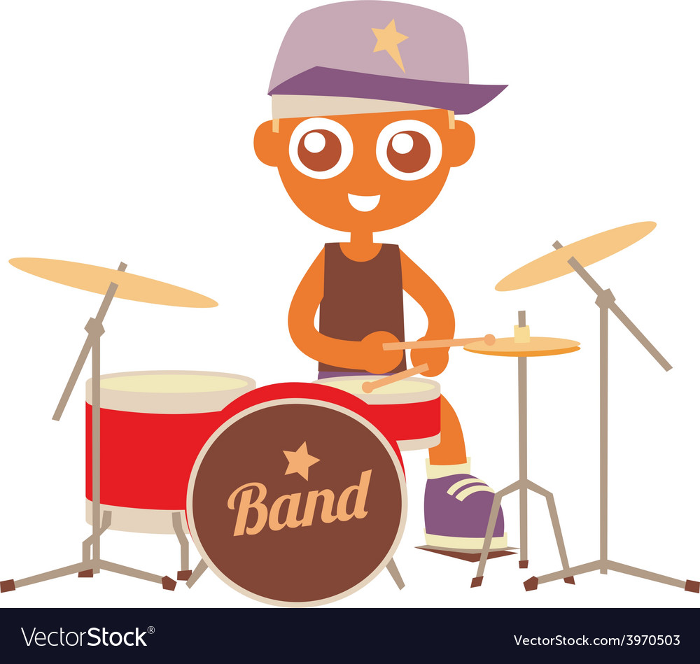 Hip hop drummer vector | Price: 1 Credit (USD $1)