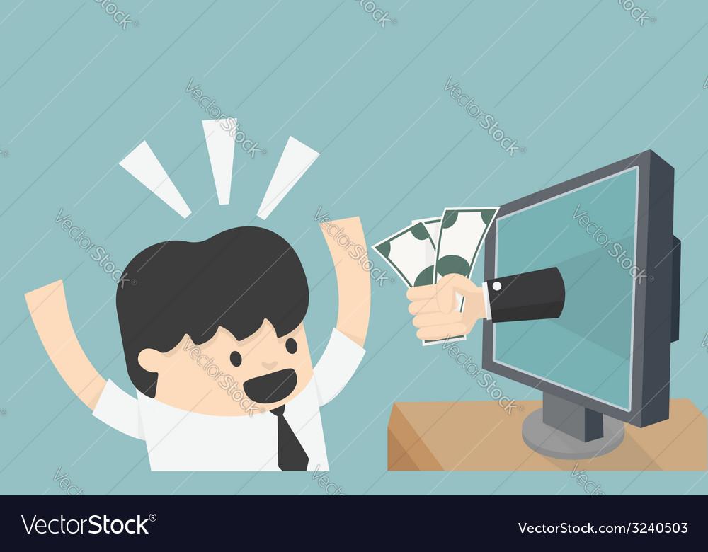 Online business vector | Price: 1 Credit (USD $1)