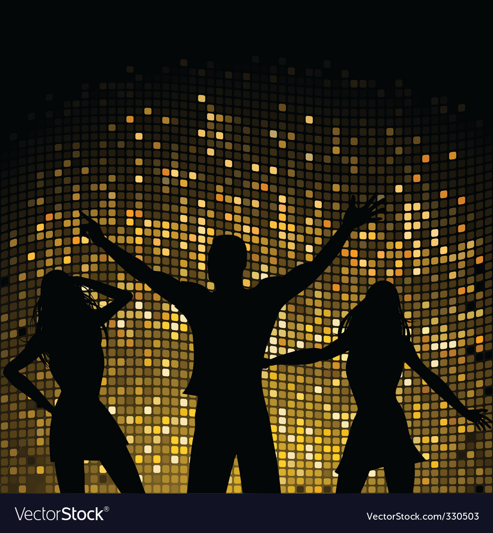 Party people and mosaic background vector | Price: 1 Credit (USD $1)