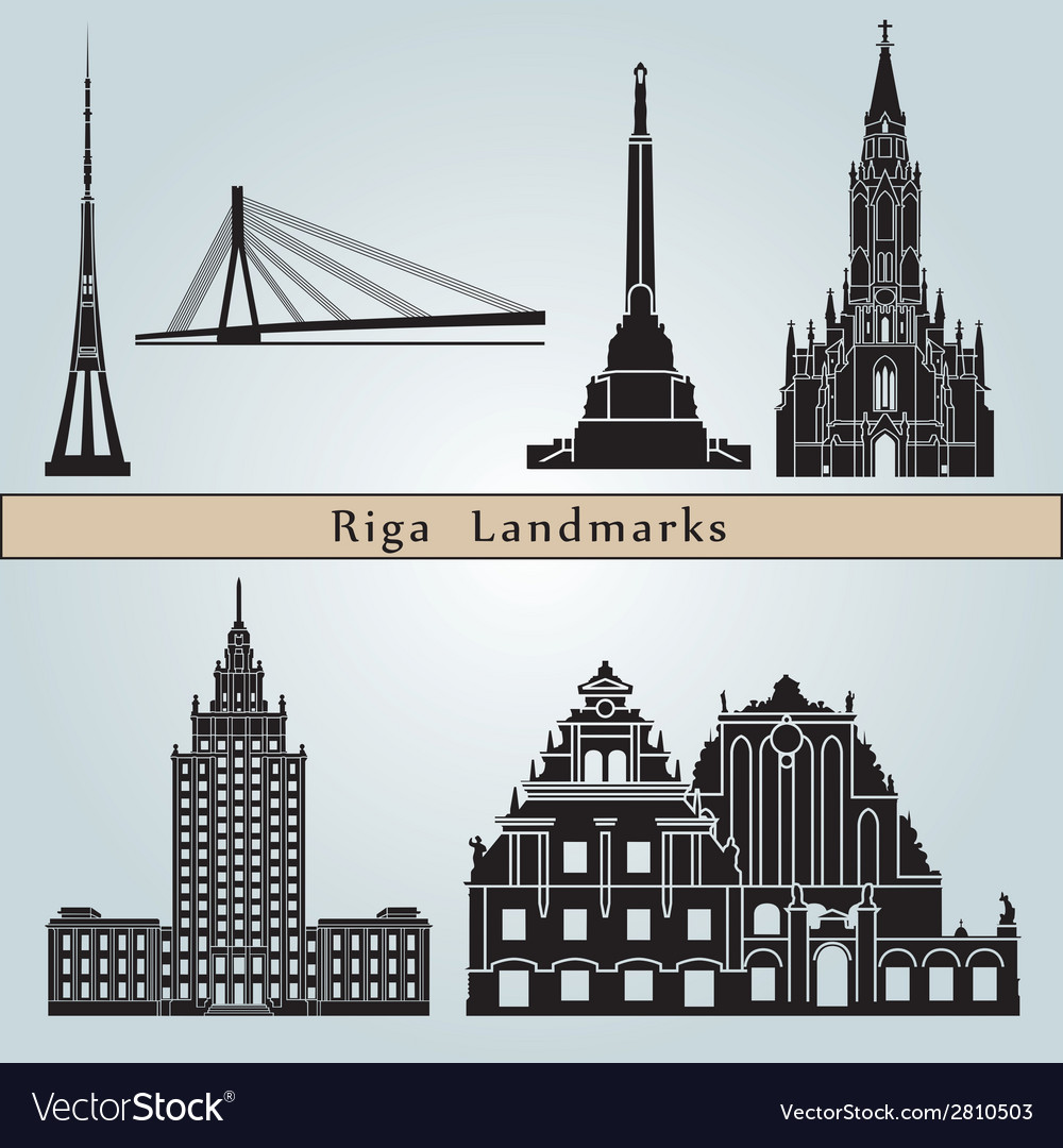 Riga landmarks and monuments vector | Price: 1 Credit (USD $1)