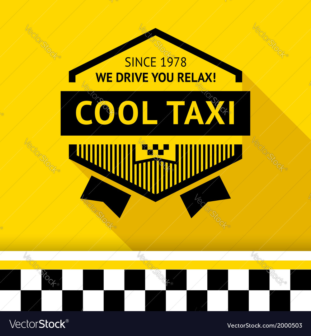 Taxi badge with shadow - 02 vector | Price: 1 Credit (USD $1)