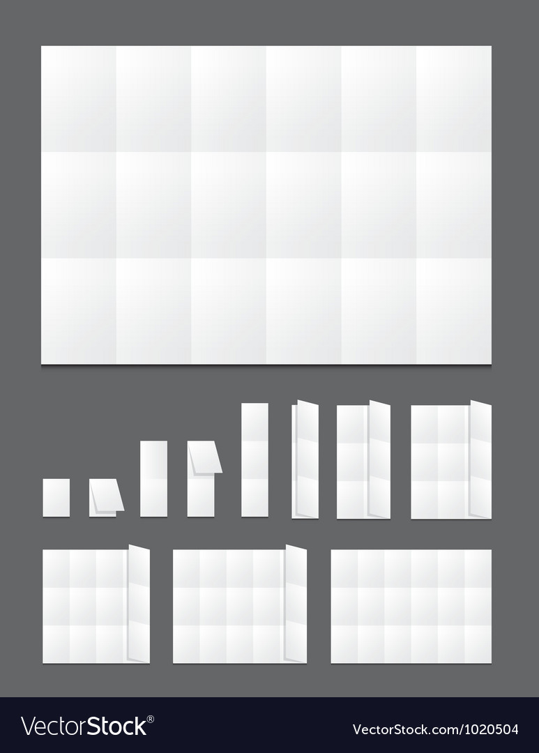 Blank folding paper flyer vector | Price: 1 Credit (USD $1)