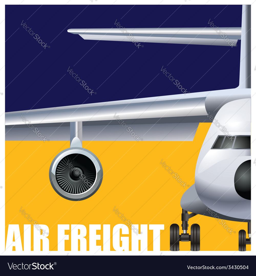 Cargo air transportation vector | Price: 1 Credit (USD $1)
