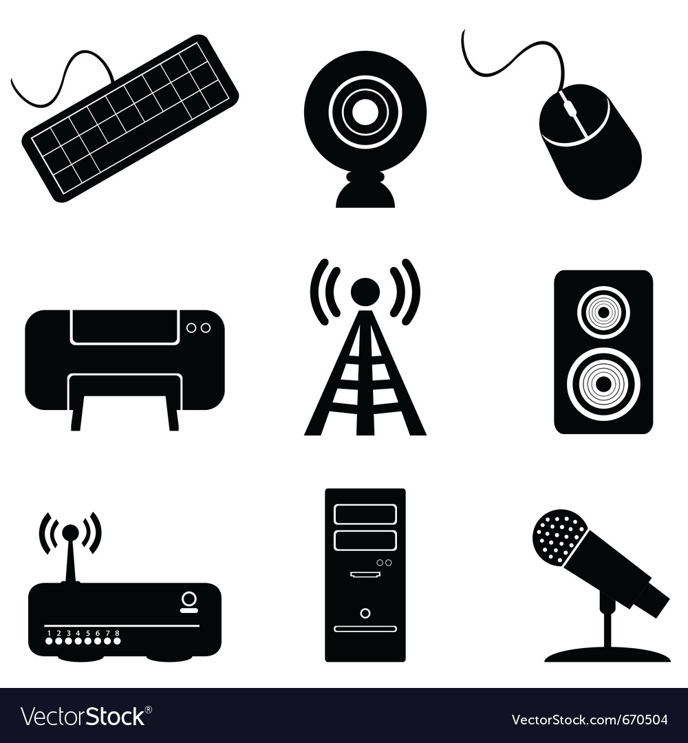 Digital music icons vector | Price: 1 Credit (USD $1)