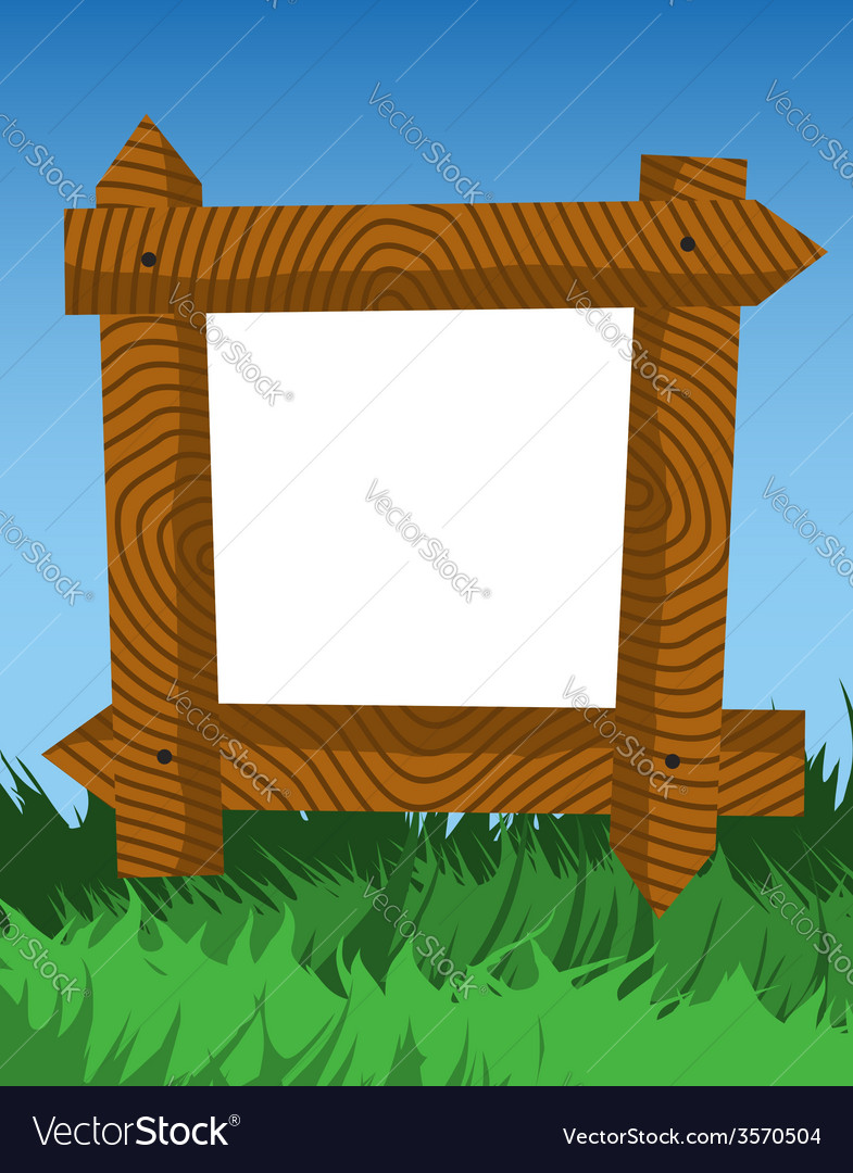 Frame made of fence logs vector | Price: 1 Credit (USD $1)