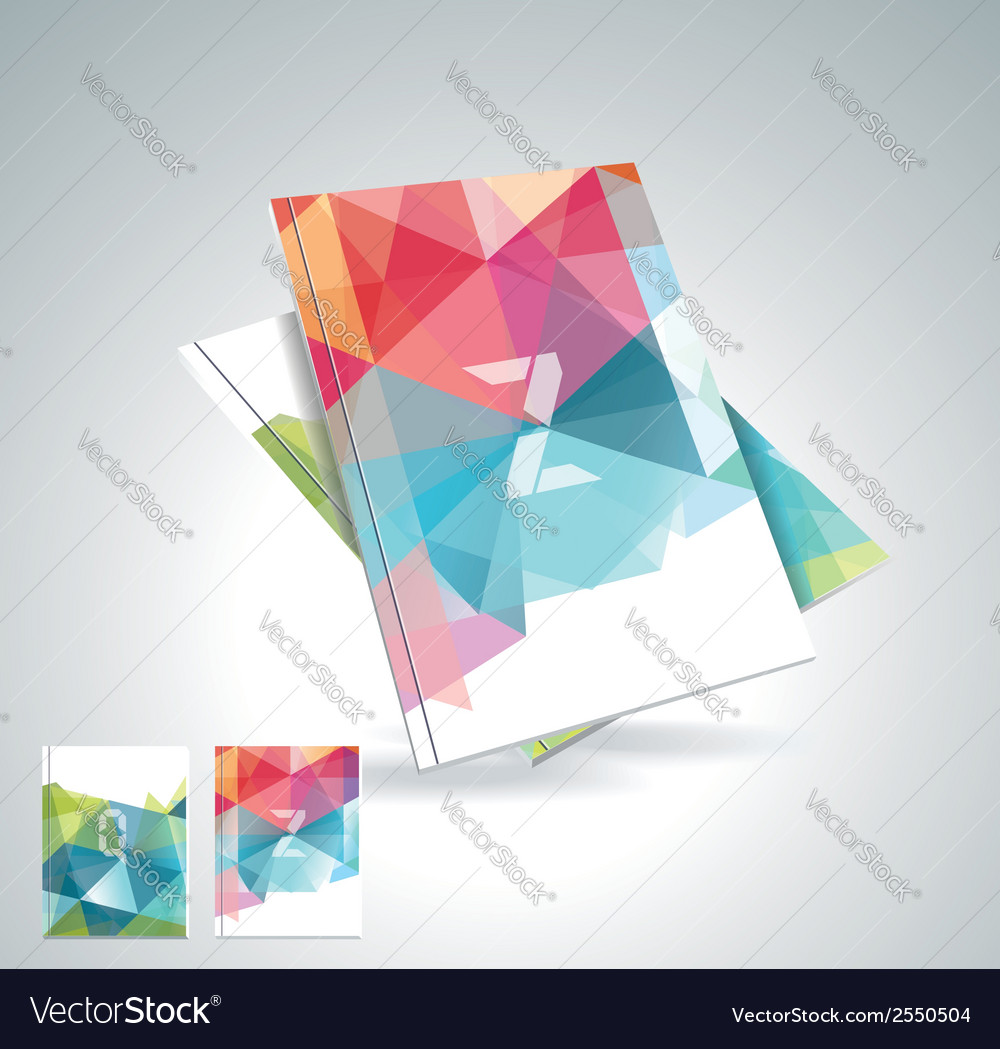 Magazine cover with pattern of geometric shapes vector | Price: 1 Credit (USD $1)