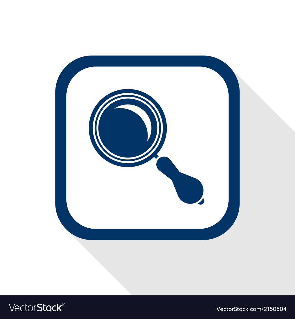 Magnifier flat icon vector | Price: 1 Credit (USD $1)