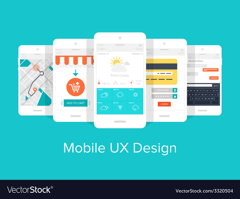 Mobile ux vector | Price: 1 Credit (USD $1)