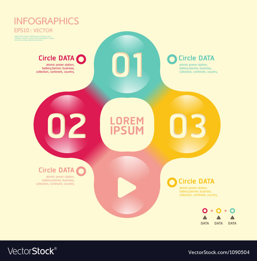 Modern soft color circle design template vector | Price: 1 Credit (USD $1)