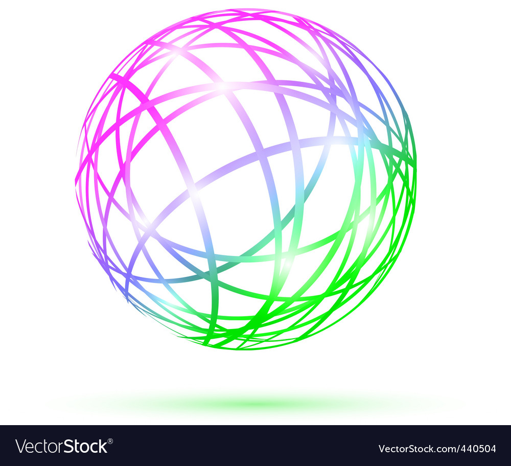 Multicolored abstract ball vector | Price: 1 Credit (USD $1)
