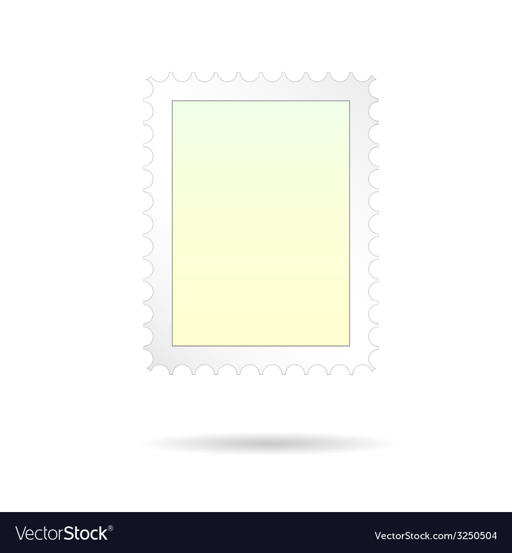 Post stamp on white background vector | Price: 1 Credit (USD $1)