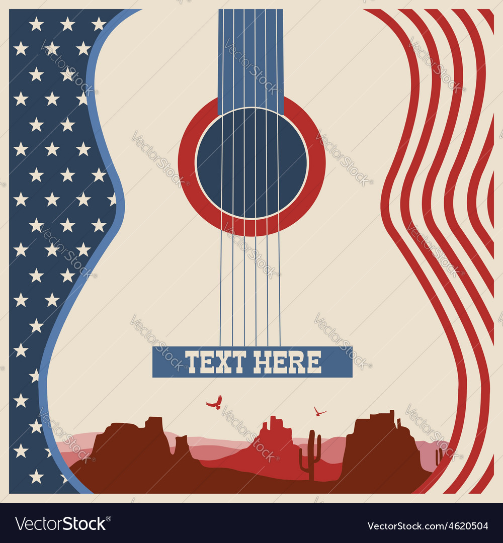 Poster of concert music festival with guitar vector | Price: 1 Credit (USD $1)