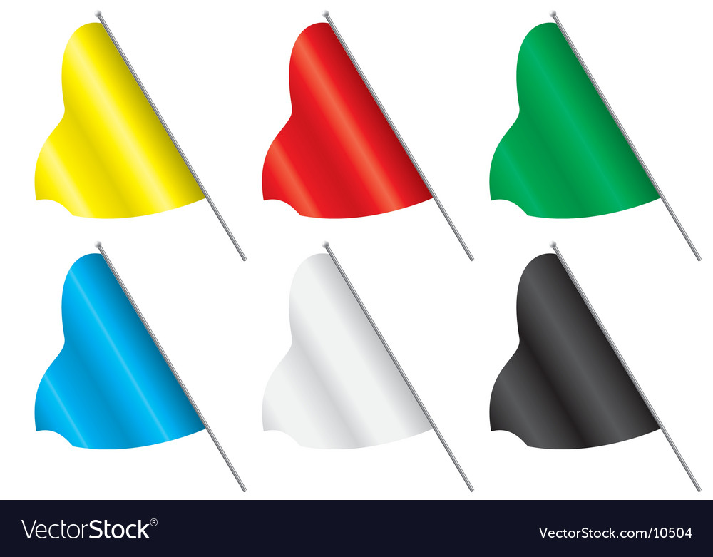 Set of multi-coloured flags vector | Price: 1 Credit (USD $1)