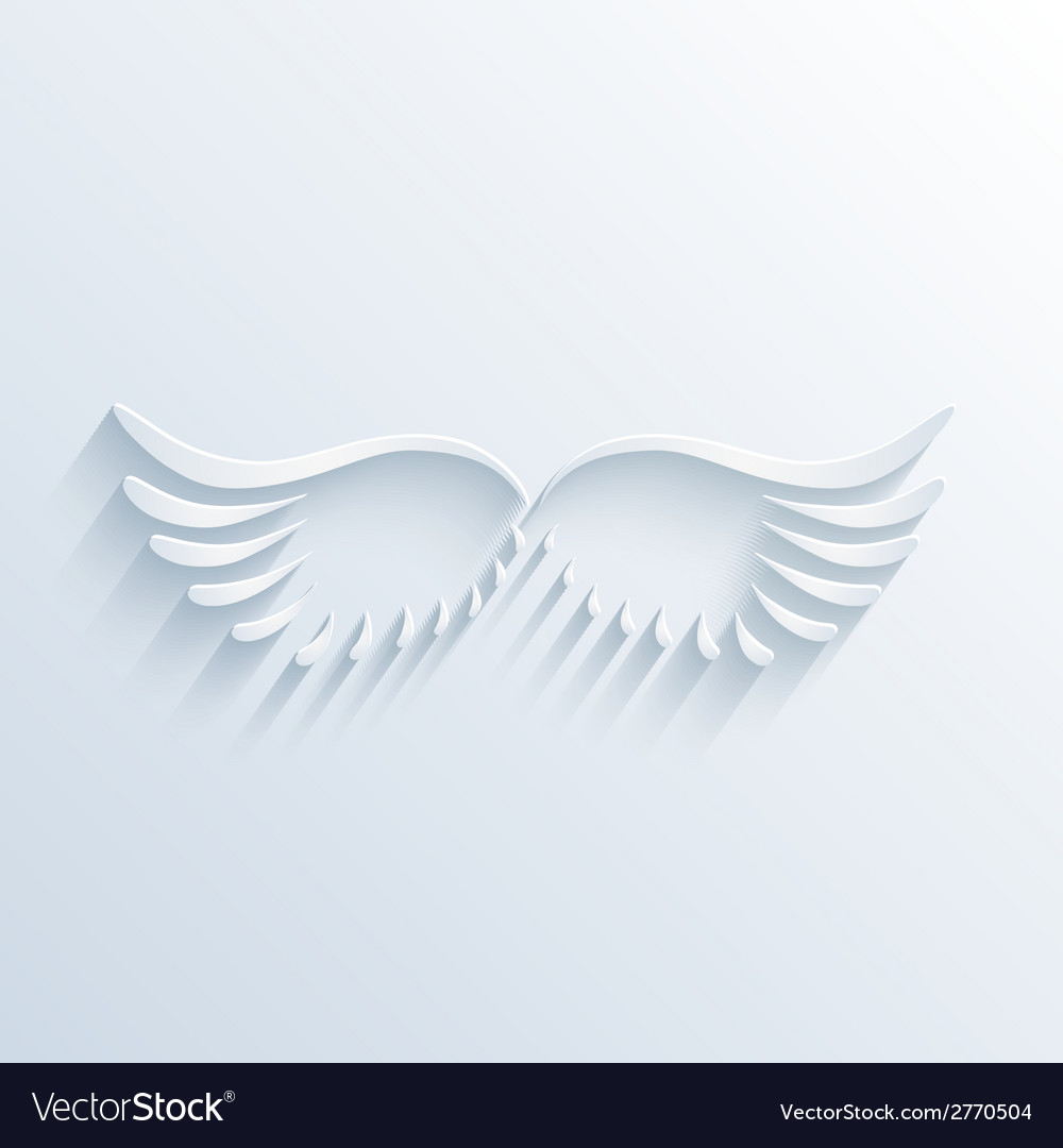 Wings sign with shadow vector | Price: 1 Credit (USD $1)