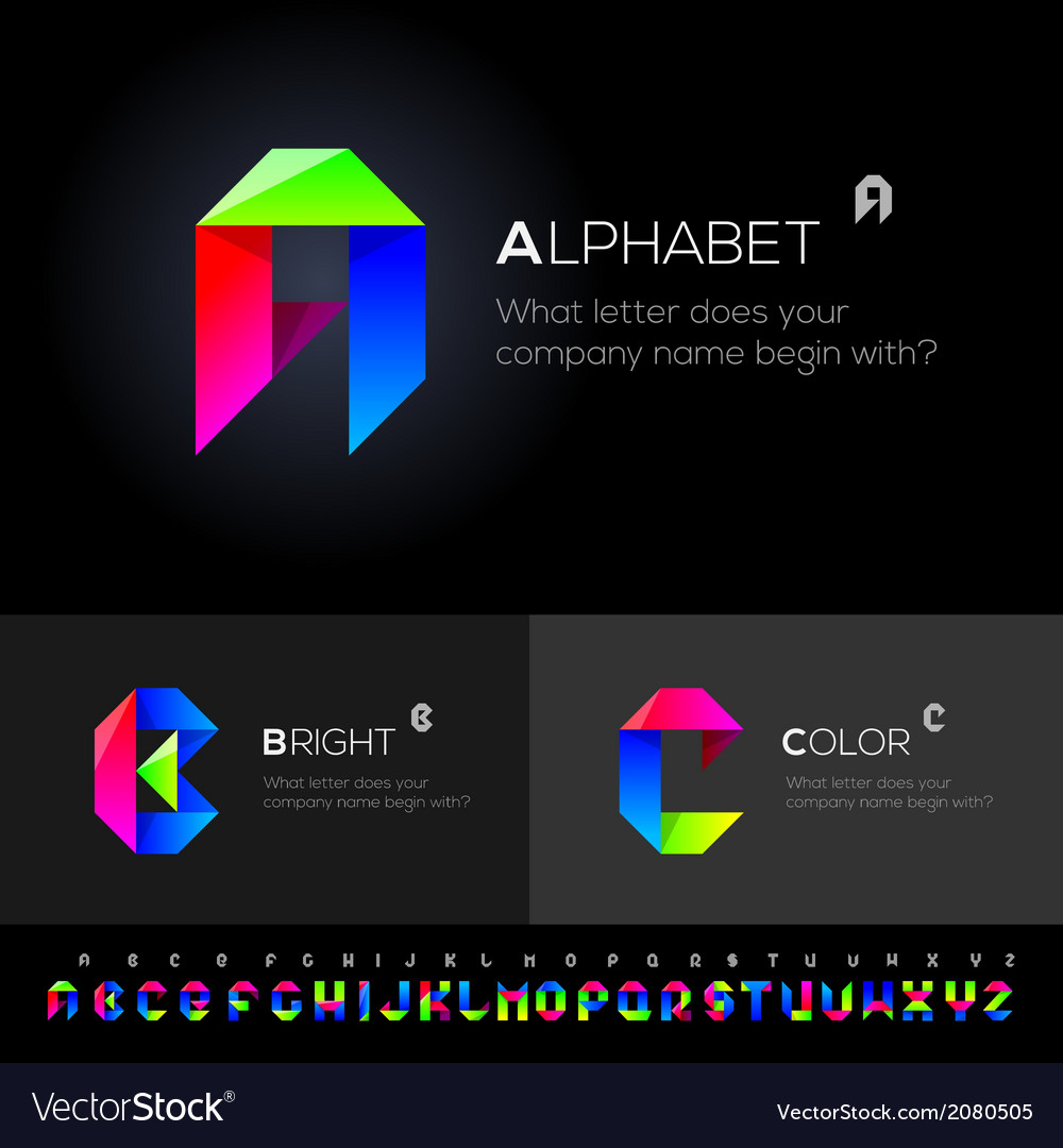 Alphabet set use as design elements vector | Price: 1 Credit (USD $1)