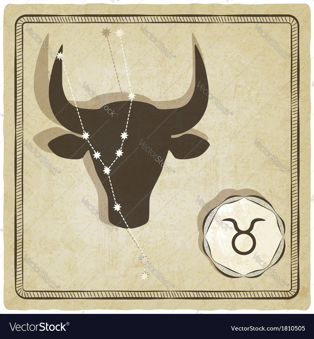 Astrological sign - taurus vector | Price: 1 Credit (USD $1)
