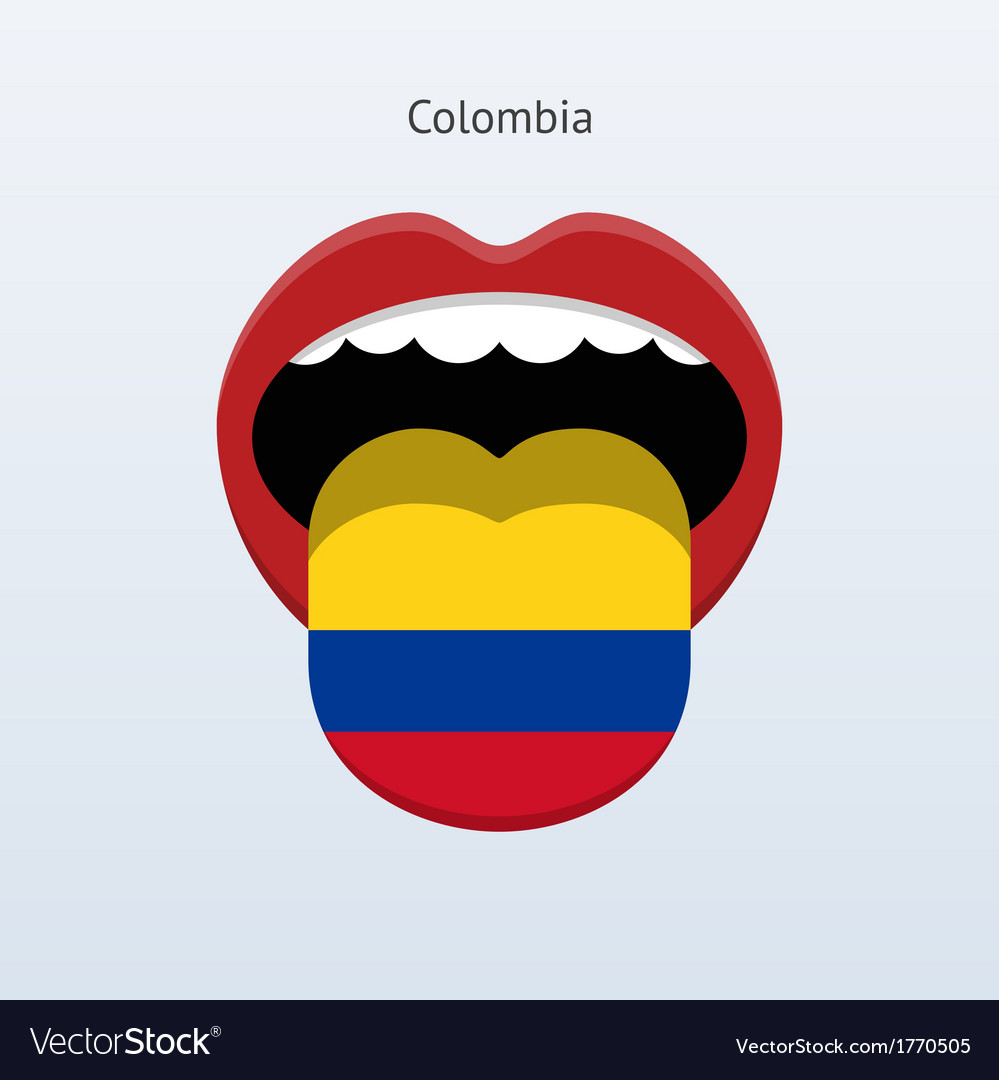 Colombia language abstract human tongue vector | Price: 1 Credit (USD $1)
