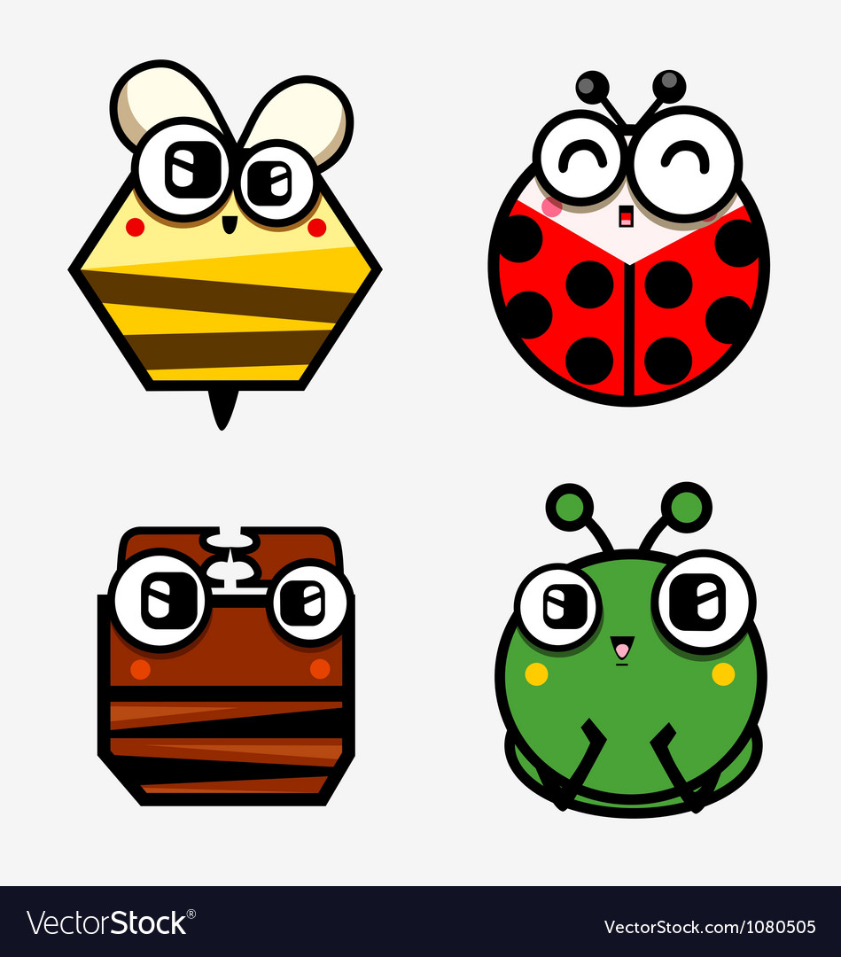 Funny bugs vector | Price: 1 Credit (USD $1)