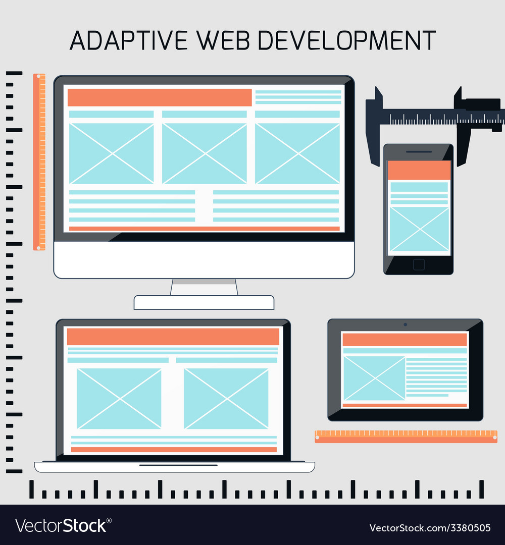 Icons for adaptive web development vector   Price: 1 Credit (USD $1)