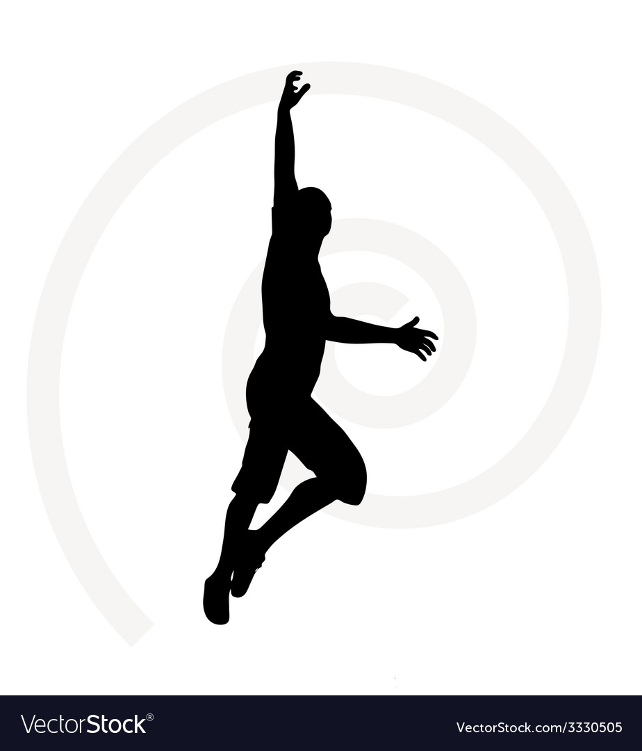 Man silhouette isolated on white background vector | Price: 1 Credit (USD $1)