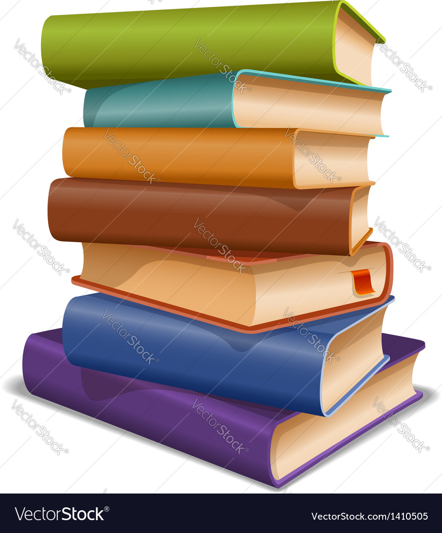 Multi colored books vector | Price: 3 Credit (USD $3)